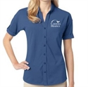 Picture of CH - Ladies' Stretch Pique Button - Front Shirt