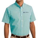 Picture of CHC - Short Sleeve Gingham Easy Care Shirt