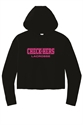 Picture of Check-Hers - Tri-Blend Wicking Fleece Crop Hooded Pullover